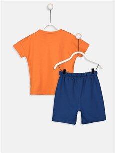 %100 Pamuk  Erkek Bebek Pamuklu Tişört Ve Şort