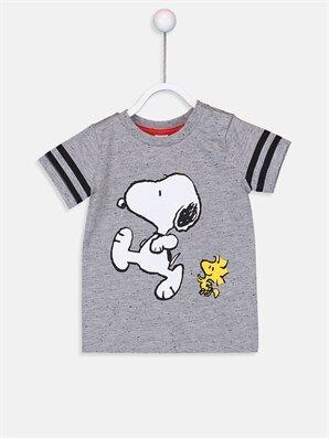 Erkek Bebek Snoopy Baskılı Tişört - LC WAIKIKI