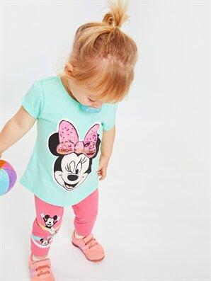 Kız Bebek Minnie Mouse Desenli Pamuklu Tişört - LC WAIKIKI