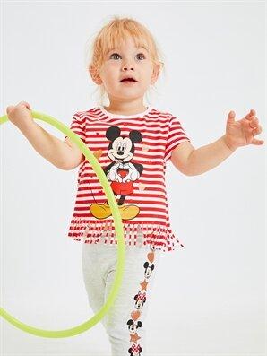 Kız Bebek Mickey Mouse Baskılı Tişört - LC WAIKIKI