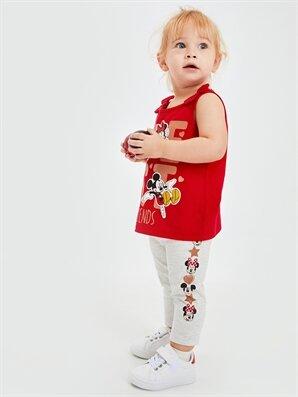 Kız Bebek Mickey Mouse Desenli Tayt - LC WAIKIKI
