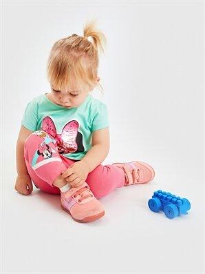 Kız Bebek Mickey Mouse Baskılı Tayt - LC WAIKIKI