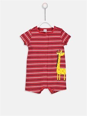 Erkek Bebek Çizgili Baskılı Tulum - LC WAIKIKI