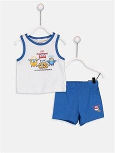 Beyaz Erkek Bebek Harika Kanatlar Baskılı Pijama Takımı 9SR328Z1 LC Waikiki