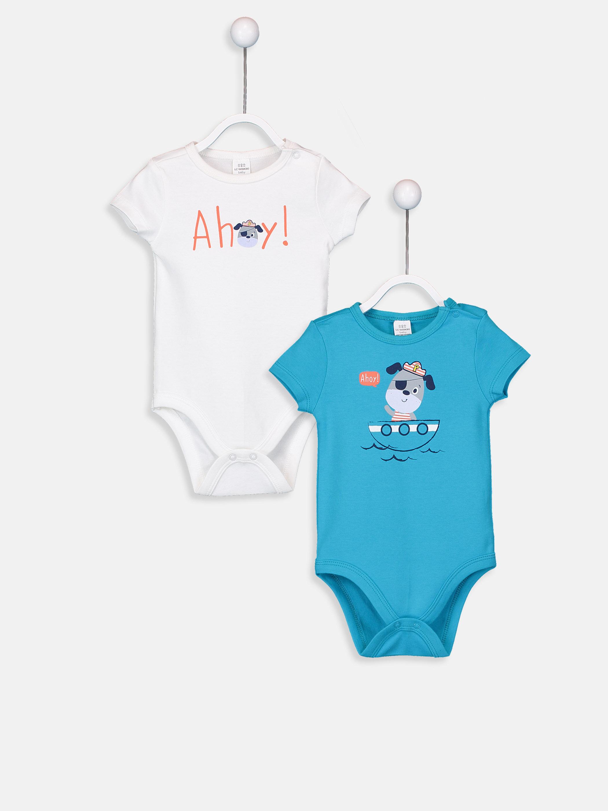 Erkek Bebek Çıtçıtlı Body 2'li  -9SR357Z1-FFB