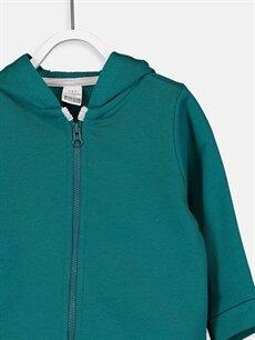 Erkek Bebek Erkek Bebek Kapüşonlu Fermuarlı Sweatshirt