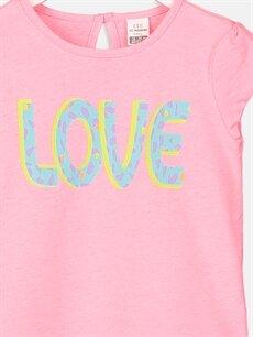 Kız Bebek Kız Bebek Yazı Baskılı Pamuklu Tişört
