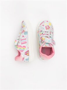 %0 Diğer malzeme (poliüretan)  Kız Bebek Cırt Cırtlı Sneaker Ayakkabı