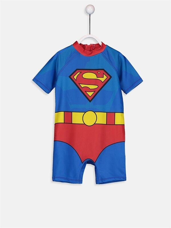 Erkek Bebek Süperman Tulum Mayo - LC WAIKIKI