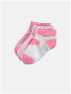 Pembe Kız Bebek Patik Çorap 3'lü 9SU495Z1 LC Waikiki