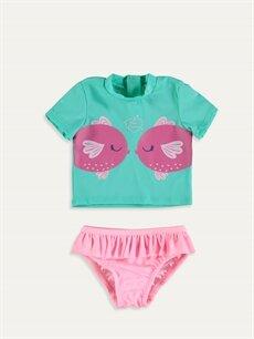 Yeşil Kız Bebek Yüzme Takım 9SV172Z1 LC Waikiki