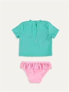 %79 Polyester %21 Elastan  Kız Bebek Yüzme Takım