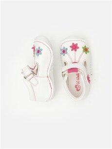 %0 Diğer malzeme (poliüretan)  Kız Bebek İlk Adım Çiçekli Ayakkabı