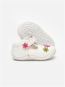 Kız Bebek Kız Bebek İlk Adım Çiçekli Ayakkabı