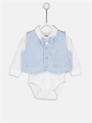 Erkek Bebek Pantolon Yelek ve Çıtçıtlı Body - LC WAIKIKI