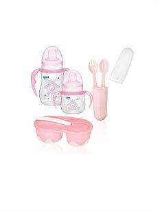 Pembe Wee Baby Kız Bebek Alıştırma Bardağı Seti 9SY455Z1 LC Waikiki