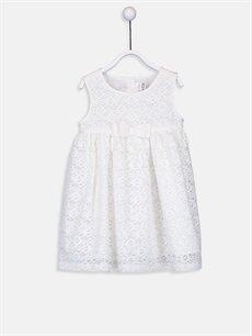 Ekru Kız Bebek Tül Elbise 9SY530Z1 LC Waikiki
