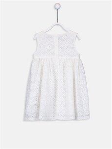 %76 Pamuk %24 Polyester %100 Pamuk Desenli Kız Bebek Tül Elbise