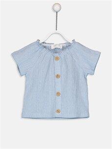 Mavi Kız Bebek Pamuklu Tişört 9SY742Z1 LC Waikiki