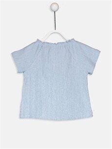 %59 Pamuk %40 Polyester %1 Elastan Standart Kısa Kol Tişört Bisiklet Yaka Kız Bebek Pamuklu Tişört