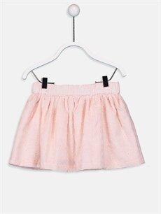 %66 Pamuk %34 Polyester %100 Pamuk Diz Altı Düz Kız Bebek Gabardin Etek