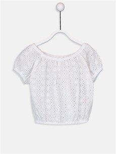 Beyaz Kız Bebek Poplin Bluz 9SA655Z1 LC Waikiki