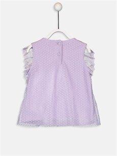 %100 Polyester %100 Pamuk Baskılı Kolsuz Tişört Bisiklet Yaka Standart Kız Bebek Tişört