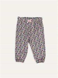 Lacivert Kız Bebek Desenli Pantolon 9SB144Z1 LC Waikiki