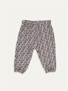 %100 Viskoz  Kız Bebek Desenli Pantolon