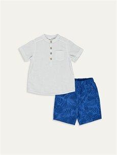 Beyaz Erkek Bebek Gömlek ve Şort 9SB818Z1 LC Waikiki