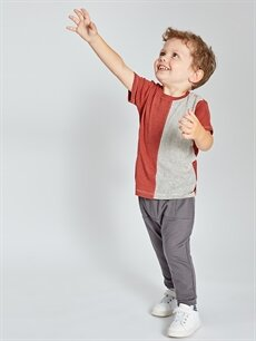 Erkek Bebek Erkek Bebek Çizgili Pamuklu Tişört