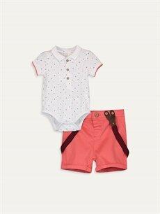 Beyaz Erkek Bebek Takım 3'lü 9SC365Z1 LC Waikiki