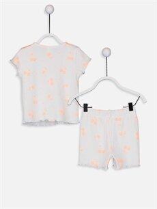 %98 Pamuk %2 Elastan %98 Pamuk %2 Elastan Standart Pijamalar Kız Bebek Desenli Pamuklu Pijama Takımı