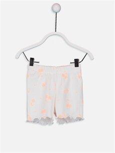 Kız Bebek Desenli Pamuklu Pijama Takımı