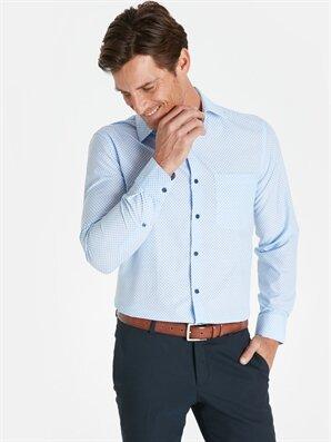 Regular Fit Baskılı Uzun Kollu Gömlek - LC WAIKIKI