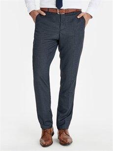%68 Polyester %32 Viskon  Standart Kalıp Armürlü Takım Elbise Pantolonu