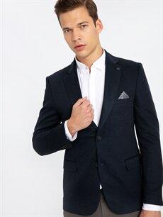 %84 Polyester %16 Viskoz  Dar Kalıp Blazer Ceket