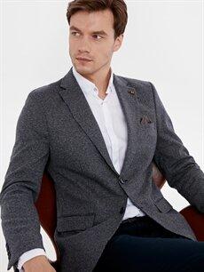 %20 Pamuk %63 Poliester %14 Viskoz %3 Elastan %100 Polyester   Dar Kalıp Blazer Ceket