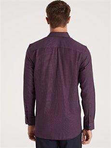Erkek Regular Fit Ekose Uzun Kollu Gabardin Gömlek