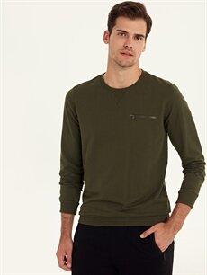 Haki Rahat Kalıp Basic Sweatshirt 9W3306Z8 LC Waikiki