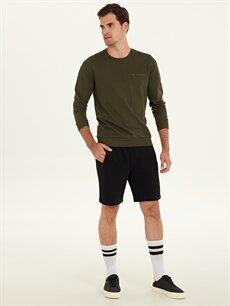 %61 Pamuk %39 Polyester  Rahat Kalıp Basic Sweatshirt