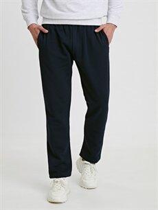 %67 Pamuk %33 Polyester Normal Bel Normal Pilesiz Pantolon Regular Fit Spor Pantolon