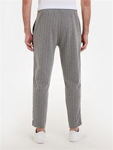 Erkek Slim Fit Çizgili Pantolon