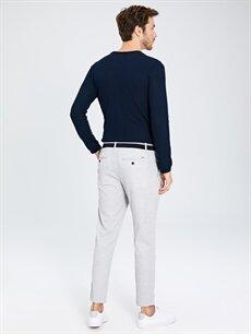 %82 Polyester %18 Viskoz Slim Fit Bilek Boy Poliviskon Pantolon