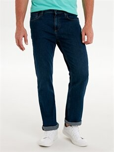 %99 Pamuk %1 Elastan Rahat Normal Bel Jean 790 Rahat Kalıp Jean Pantolon