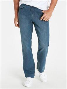 %75 Pamuk %24 Polyester %1 Elastan Rahat Normal Bel Jean 790 Rahat Kalıp Jean Pantolon