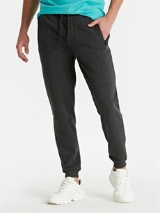 %22 Pamuk %78 Polyester Dar Pilesiz Pantolon Normal Bel Slim Fit Spor Pantolon