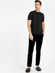 Siyah Standart Kalıp Pijama Takım 9W3965Z8 LC Waikiki