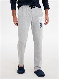 %50 Pamuk %50 Polyester Standart Pijamalar Standart Kalıp Baskılı Pijama Alt