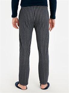 %75 Polyester %25 Viskoz Standart Kalıp Ekose Pijama Alt